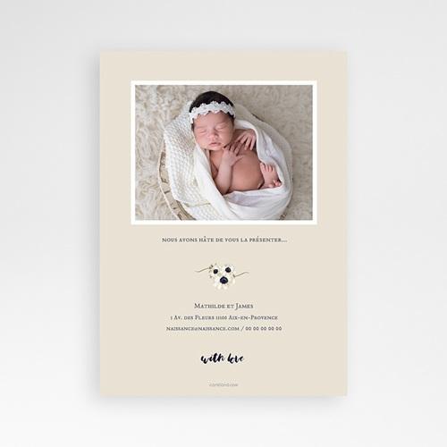 Faire-Part Naissance Fille Baby Flower pas cher