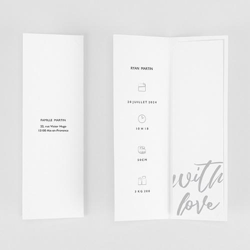 Faire-Part Naissance Garçon Hello with Love gratuit