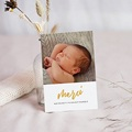 Carte Remerciement Naissance - Hello with Love - 7402