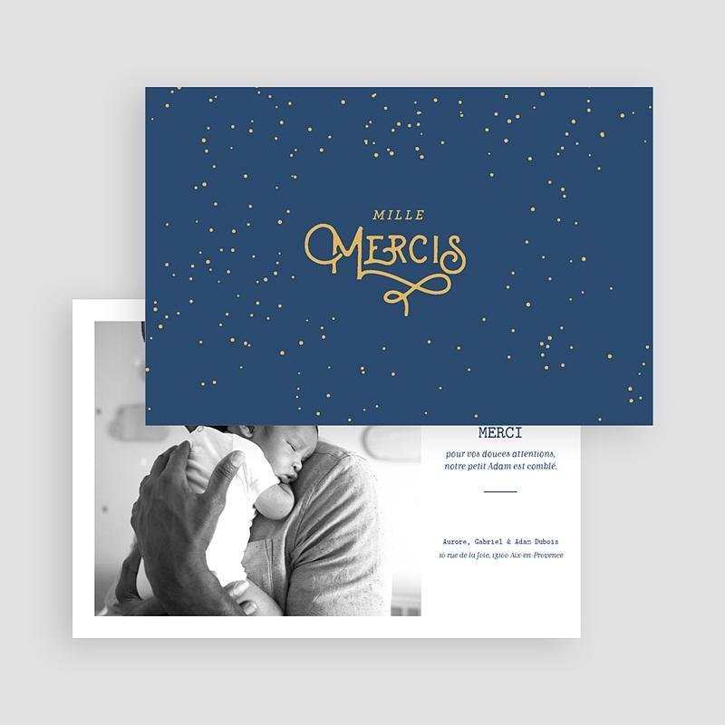 Carte Remerciement Naissance Originale Orion gratuit