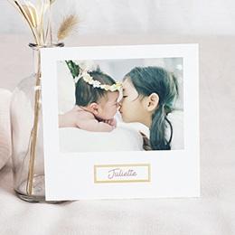Faire-part naissance photo Cadres Dorés