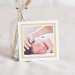 Carte remerciement naissance photo Hello Doré