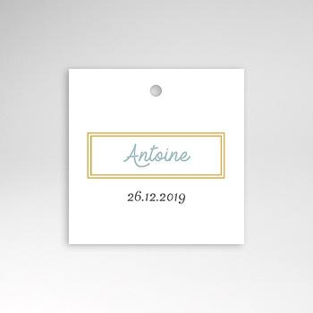 Étiquette Naissance - Cadre Doré - 0