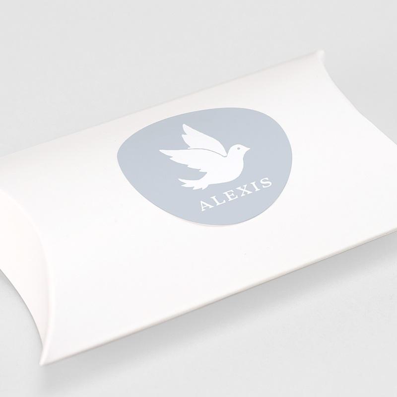 Etiquette Autocollante Baptême Peace Loving gratuit