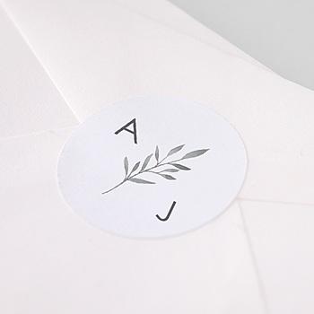 Étiquette autocollante mariage - Rameaux Aquarelle - 1