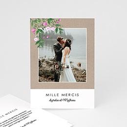 Carte remerciement mariage photo Nature en fête