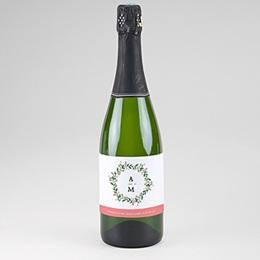 Etiquette Bouteille Mariage Champagne Fleurs d'été