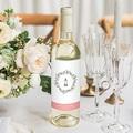 Etiquette Bouteille Mariage Fleurs d'été