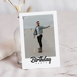 Carte invitation anniversaire 30 ans Birthday Party