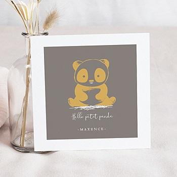 Faire part de naissance garçon le panda zen animaux