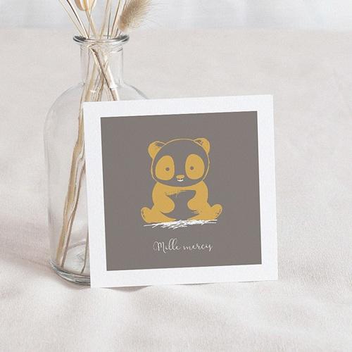 Carte remerciement naissance garçon Le Panda Zen