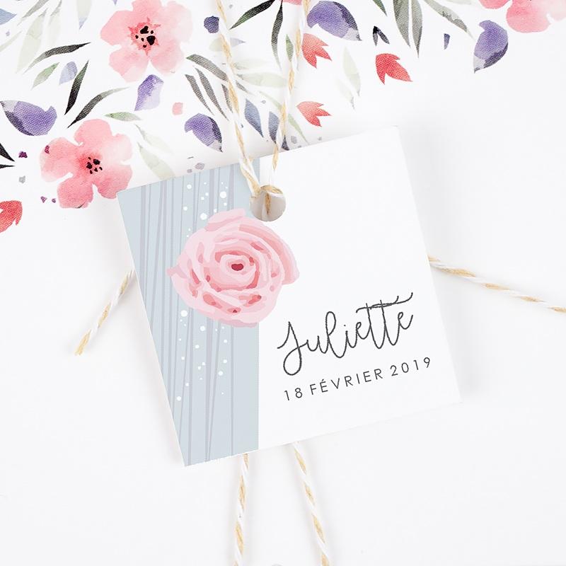 Etiquette Cadeau Naissance Sweet Candy gratuit