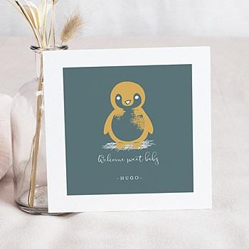 Faire Part Naissance animaux - Petit Pingouin - 0