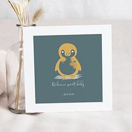 Faire-part naissance animaux Petit Pingouin