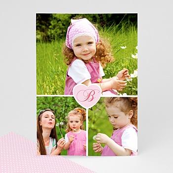 Carte personnalisée 3 photos et plus 3 photos + 1 coeur