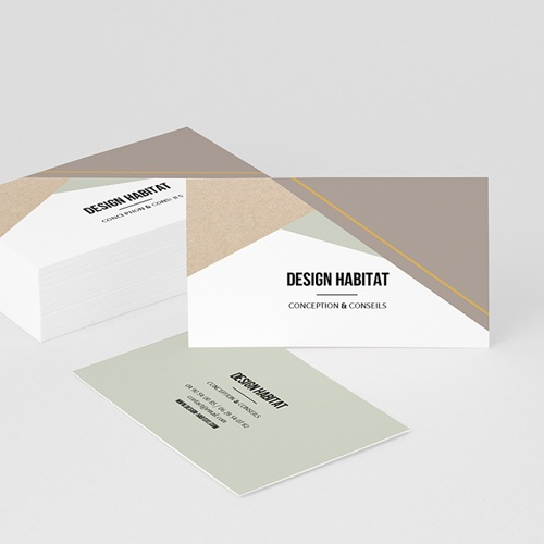 Carte de Visite Design Géométrique