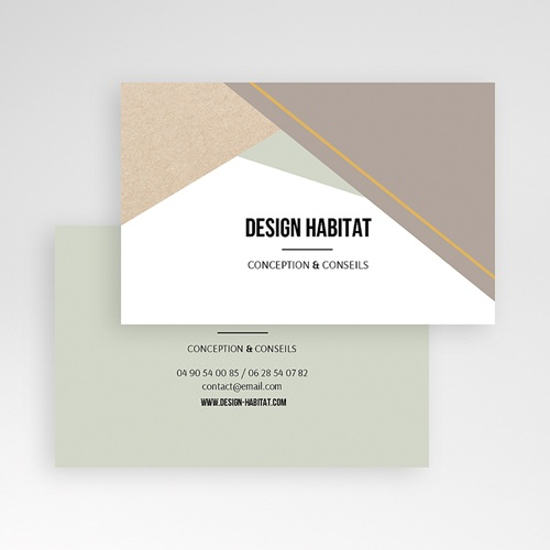 Carte de Visite Design Géométrique pas cher