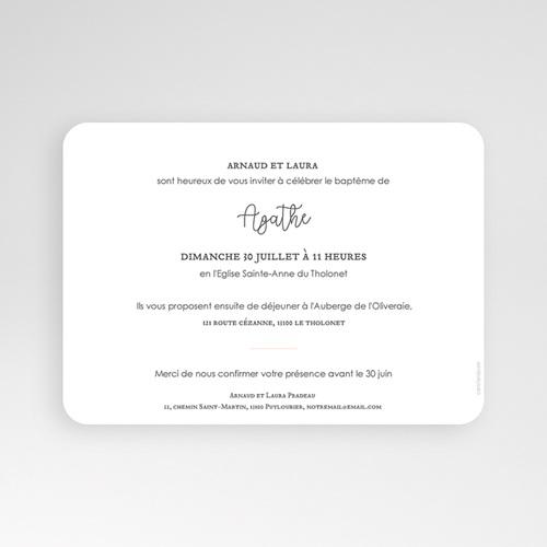 Faire-part Baptême Fille - Colombe Dorée 63954 thumb