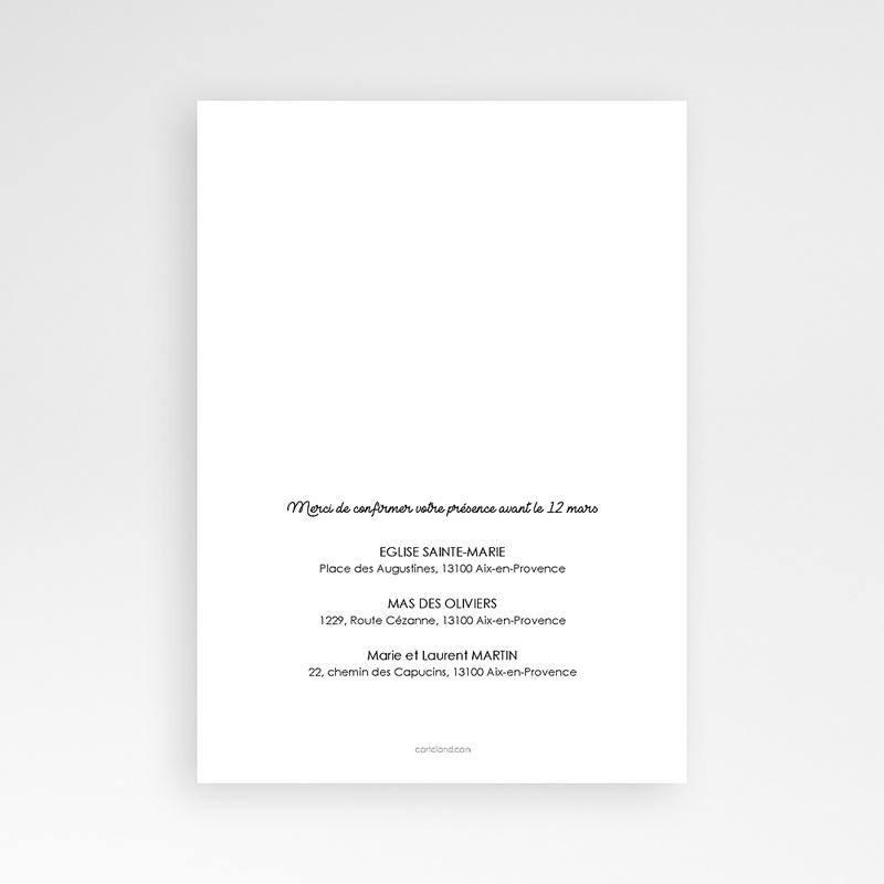 Faire-part Baptême Garçon - Confetti noirs 63972 thumb