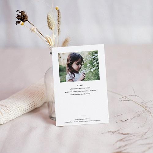 Carte remerciement baptême fille Colombe Dorée pas cher