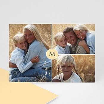 Carte personnalisée 3 photos et plus Trio Bordures Blanches