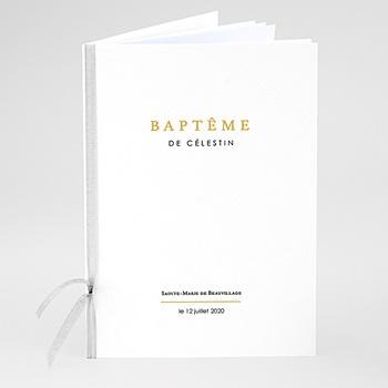 Livret de messe baptême - Confetti noirs - 0