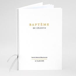Livret de messe baptême Confetti noirs