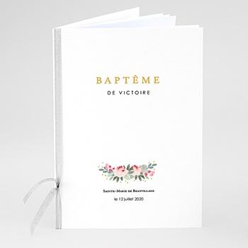 Livret messe bapême Fleurs de bapême à personnaliser