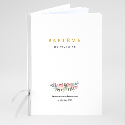 Livret Messe Baptême Fleurs de baptême