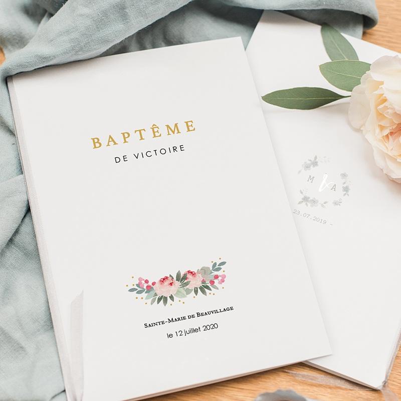 Livret Messe Baptême Fleurs de baptême pas cher