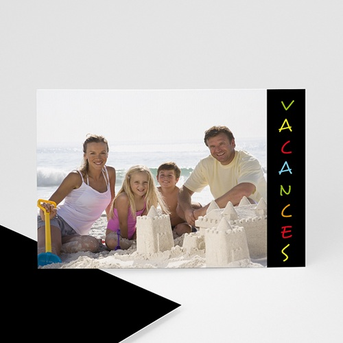Cartes photo à créer - Vacances - Fond Noir 6411