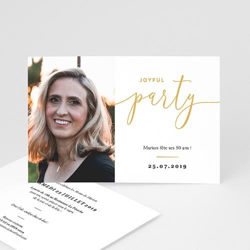 carte invitation anniversaire 50 ans joyfull party 50