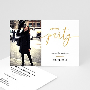 Invitation anniversaire 40 ans - Joyful Party 40 - 0