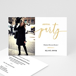 Carte invitation anniversaire 40 ans - Joyful Party 40 - 0