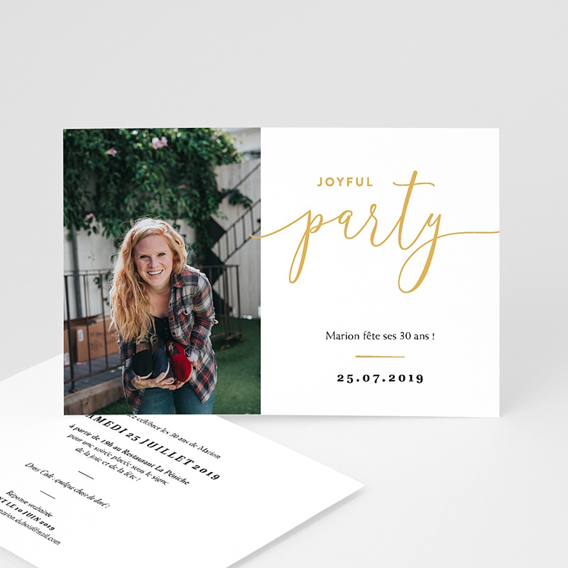 Invitation Anniversaire 30 ans - Joyful Party 30 64130 thumb