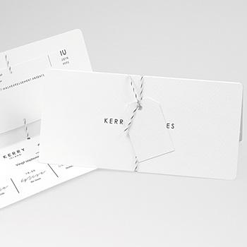 Faire Part Mariage classique - Epure minimaliste - 0