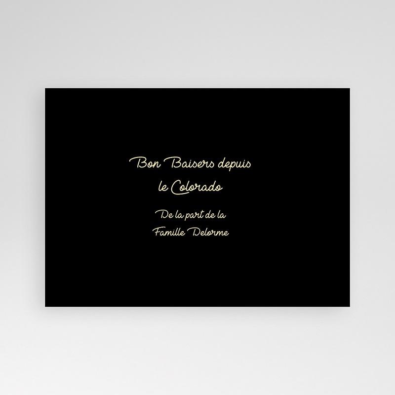 Carte personnalisée 1 photo Portrait - Bandeau noir pas cher
