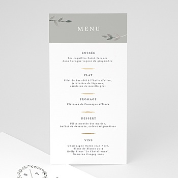 Menu de Mariage - Light & Vintage - 0