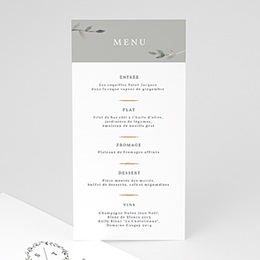 Menu de Mariage Light & Vintage
