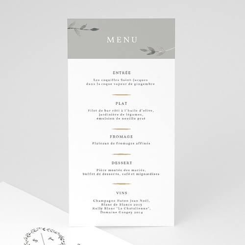 Menu Mariage Light & Vintage