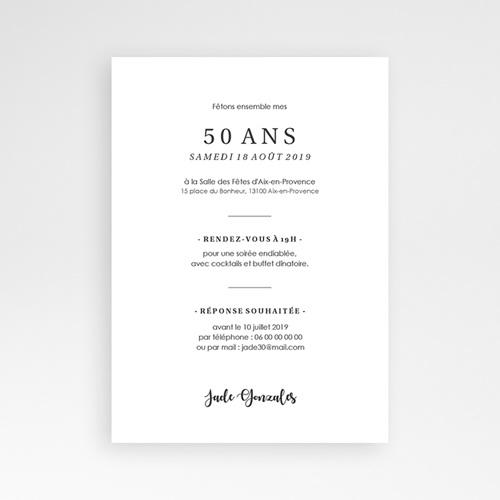 Carte Invitation Anniversaire 50 Ans Fetons 50 Ans