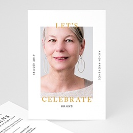 Invitations Anniversaire adulte Fêtons 60 ans