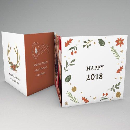 Carte de Voeux 2019 - 1,2,3 et 4  Souhaits 64333 thumb