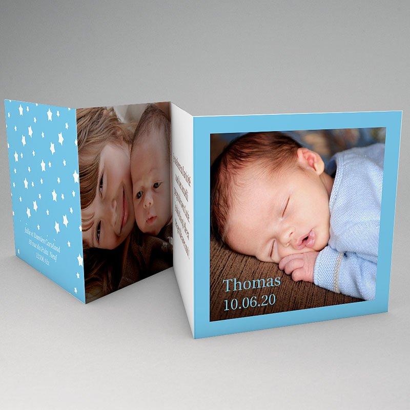 Faire-Part Naissance Garçon - Ma carte bleue de Bébé 64336 thumb