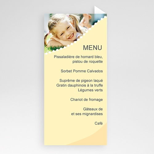 Menu de Communion - Communion - menu jaune 6440 thumb