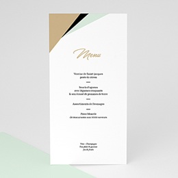 Menu de Mariage Mint & Or
