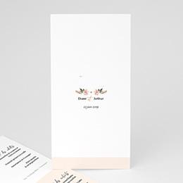 Menu de Mariage Douceurs Pastel