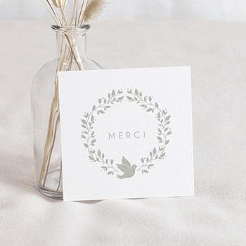 Remerciements Baptême Garçon - Couronne olive et colombe - 0