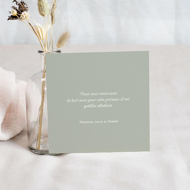 Carte Remerciement Baptême Garçon Couronne olive et colombe pas cher