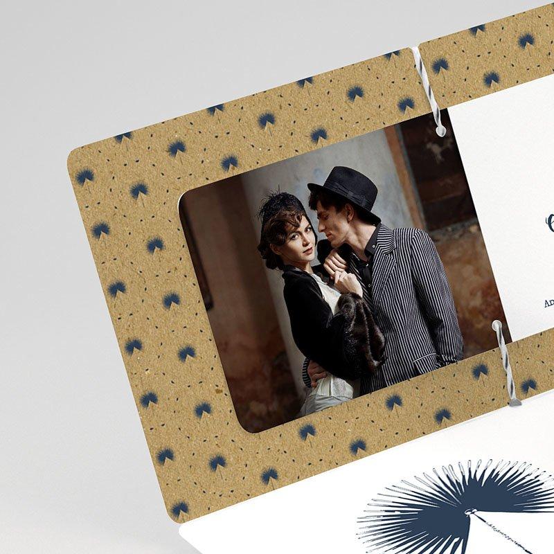 Faire-part mariage Palmier Bleu Chic gratuit